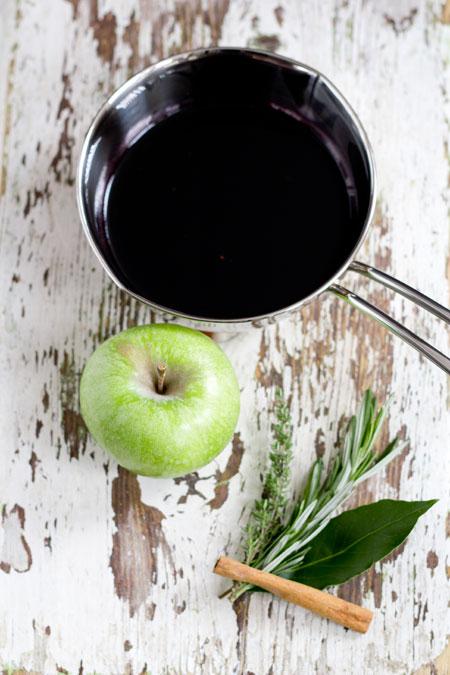 manzanas con vino de la Rioja