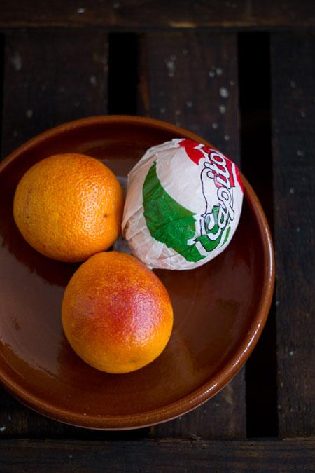 Ensalada con naranja sanguina y granada