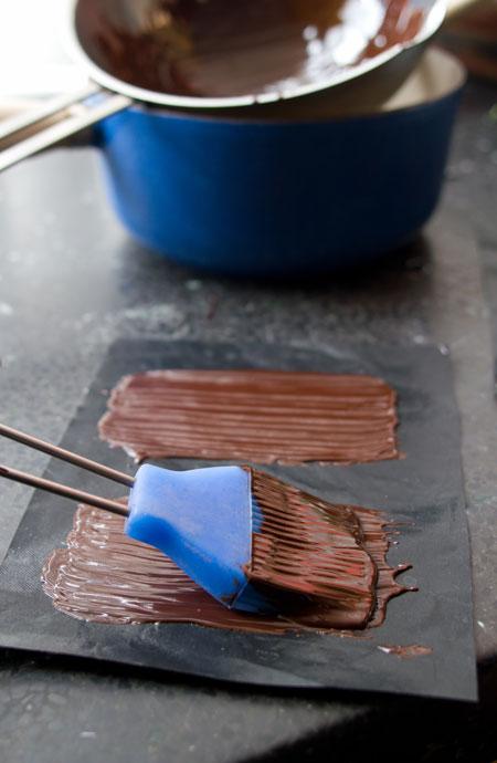 Sorbete de mojito y chocolate negro