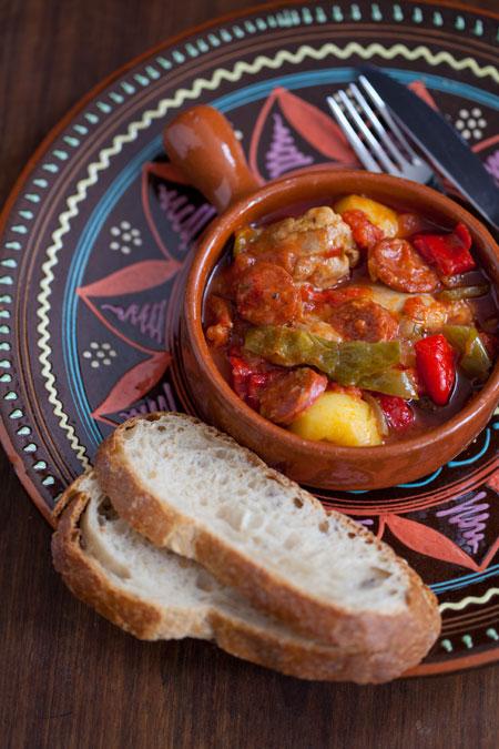 Guiso De Pollo Chorizo Y Patatas Stoofpotje Met Kip Chorizo En