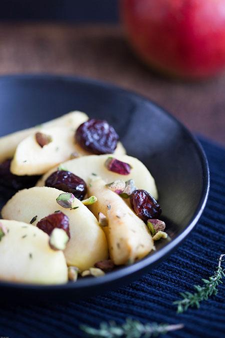 Manzanas con tomillo al horno