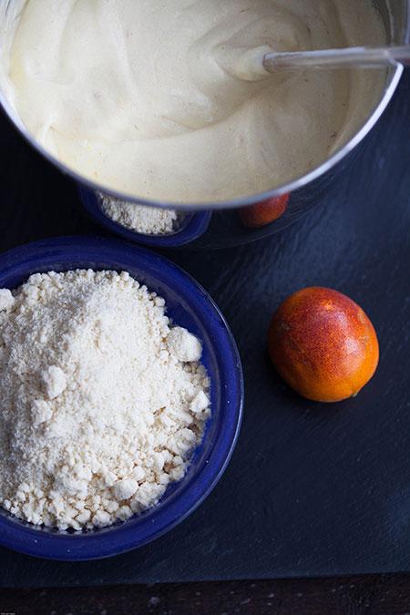Torta de almendra y naranja sanguina