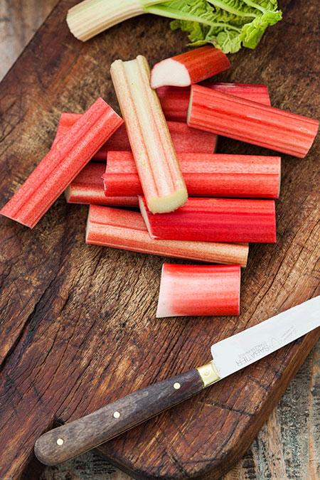 Rabarbermoes met sinaasappel en rozenwater - rabarber blog challenge