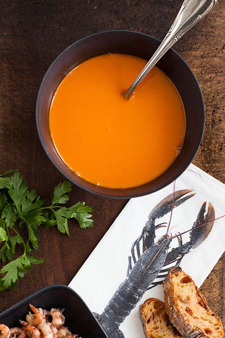 Sopa de gambitas gris (garnalensoep)