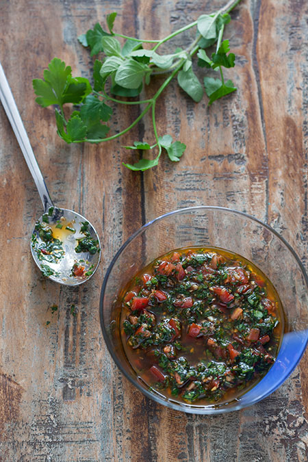 Salsa Chimichurri (chimichurri saus)