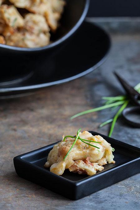 Bocaditos de jamon serrano y queso manchego (jamon serrano en manchego kaas hapjes)