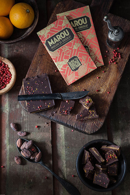 Chocolate con caramelo (chocolade met gezoute karamel)