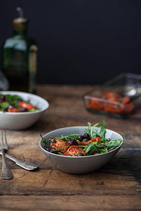 Ensalada de tomates asados (salade van geroosterde tomaten)