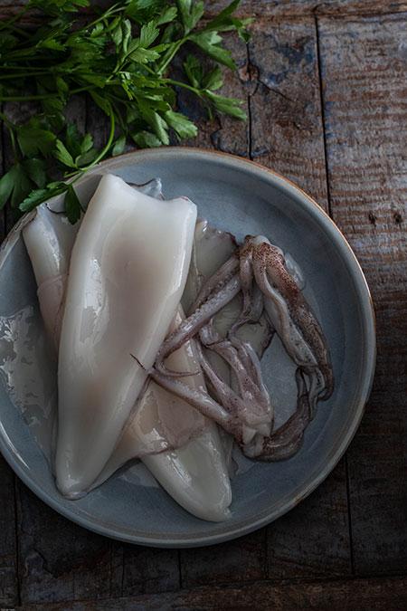 Calamares en su tinta (inktvis in zijn eigen inkt)