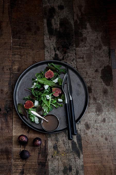 Ensalada con higos y queso de cabra (salade van vijgen en geitenkaas)