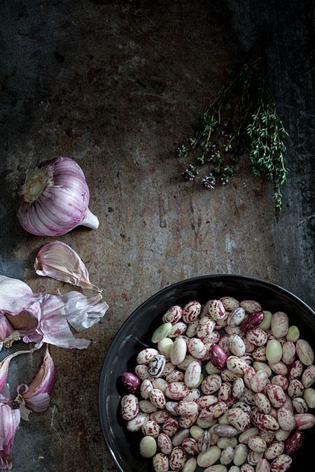 Borlottibonen met tijm en knoflook
