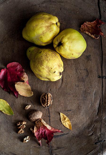 Carne de membrillo con nueces y pistachos (kweeperen pasta met walnoten en pistachenoten)