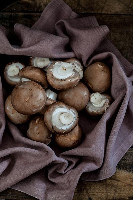 Champiñones rellenos de chorizo (champignons met chorizo vulling)