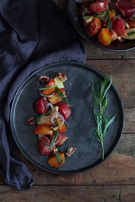 Ensalada de remolacha, manzana y nueces (bietensalade met appel en walnoten)