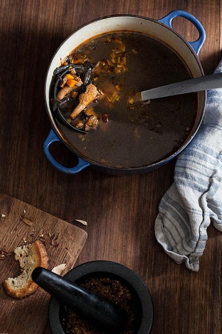 Sopa de bolets (paddenstoelen soep)
