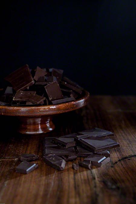 Helado de chocolate con salsa de caramelo (chocolade ijs met zoute karamel)