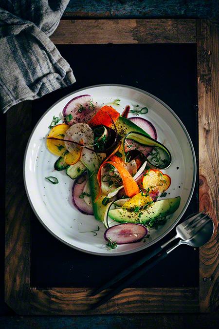 Ensalada de primavera - lente salade