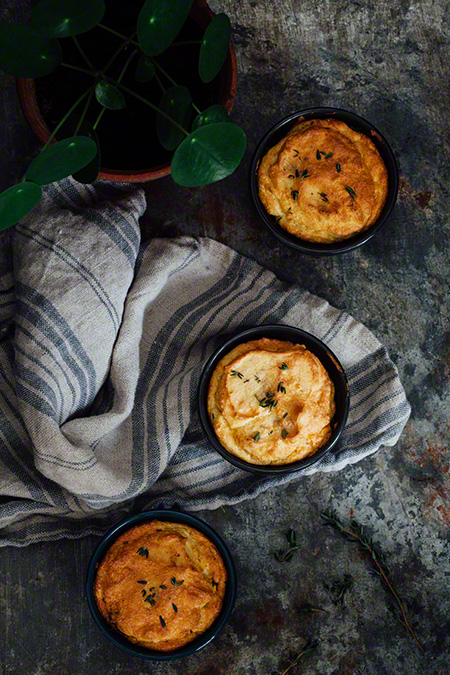 Suflé de patata con chorizo