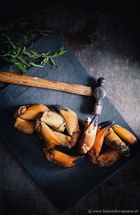 Taartjes met krab en dragon (tartitas de cangrejo con estragón)