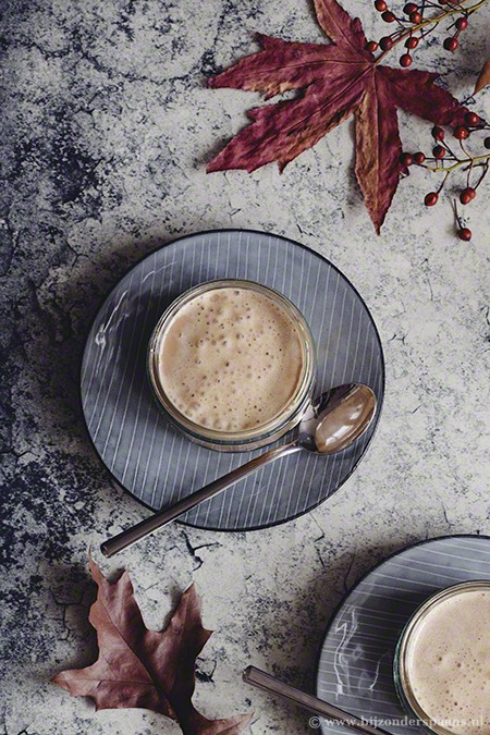Cappuccino van turrón en appel