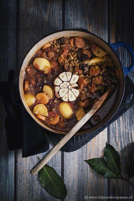 Lentejas estofadas - linzen stoofpot