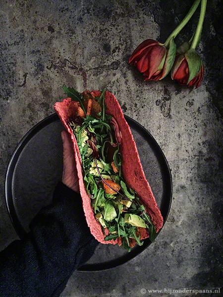 Nachos van groenten tortilla's