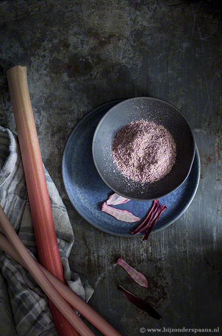 Rabarber chutney, rabarber op zuur en rabarberpoeder