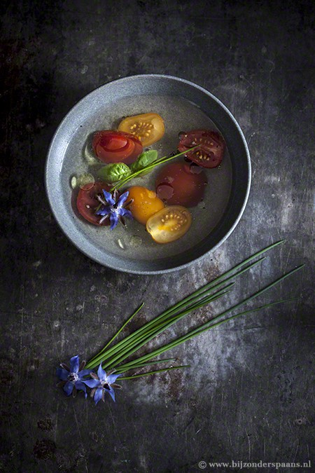 Transparante gazpacho