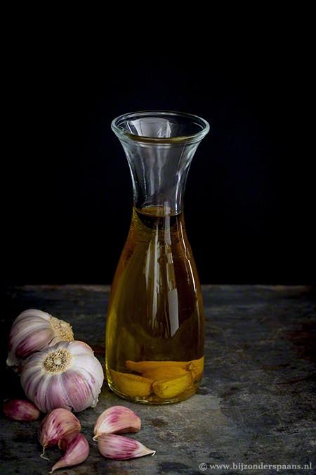 Knoflook olie en chili olie