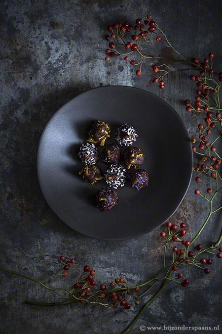 Vijgen in chocolade en dessertwijn