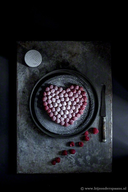 Bladerdeeg taart met frambozen