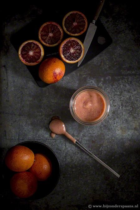 Bloedsinaasappel crème uit de magnetron