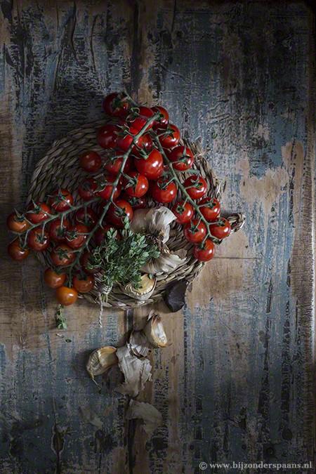 Geroosterde cherry tomatenquiche