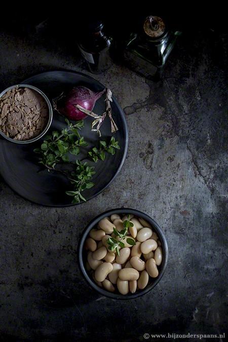 Salade van bonen en tonijn