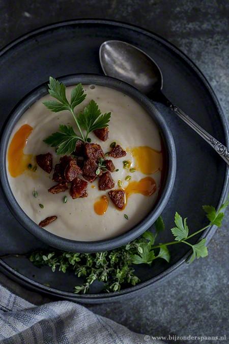 Witte bonensoep met chorizo