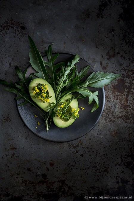 Salade met barbarakruid