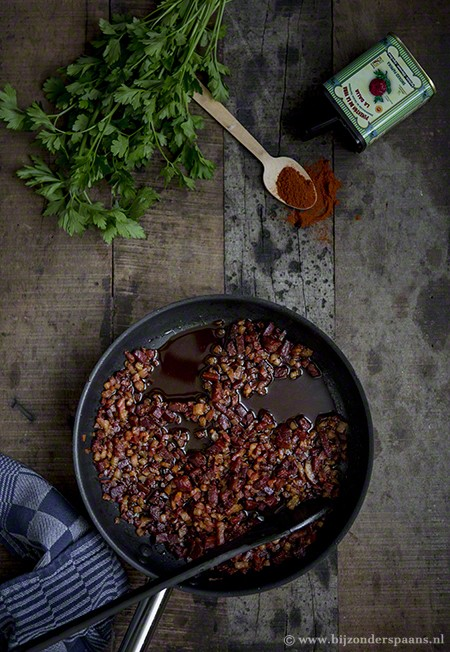 Stamppot met chorizo, pancetta en pimentón