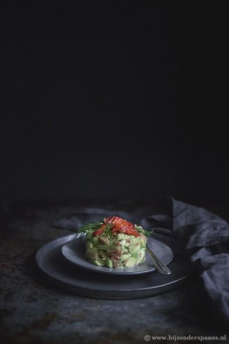 Kreeft, zalm en avocado