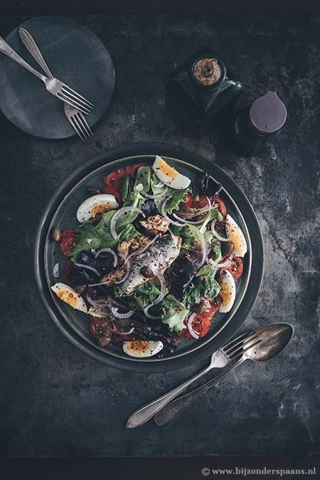 Salade met visconserven