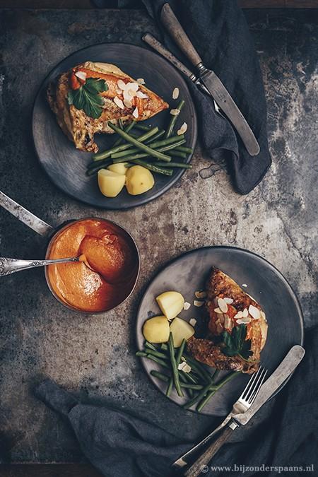 Kip met romesco saus