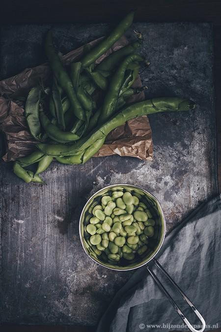 Tuinbonen met artisjokken