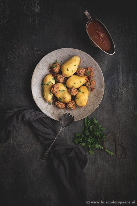 gevulde aardappelen met gehakt