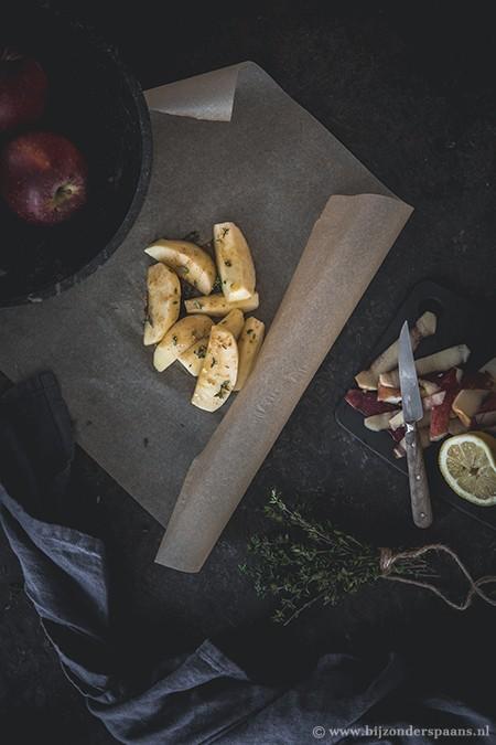 Appelpartjes uit de oven met tijm